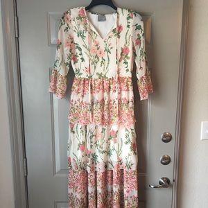 Vero Moda Floral Maxi Ruffle Dress